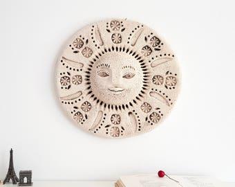 3D Wall Art Goddess sculpture Ceramic Mask. Wall Sculpture. Ceramic wall art. Ceramic sculpture. Wall Decor. Wall Art.