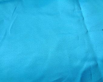 1 yard teal blue matte satin