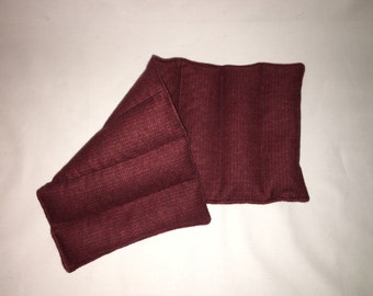 Reusable Neck and Back Rice Pack: Red Flannel