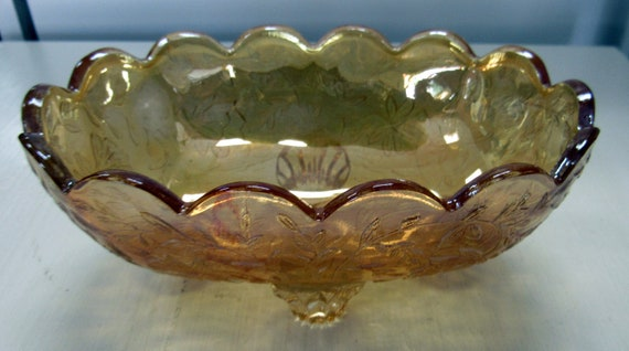 Carnival glass small candy bowl