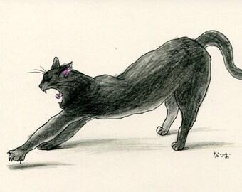 Cat original drawing - P002December2015