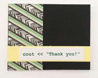 Nerdy Computer Science Vol. 1 Thank You Card Black