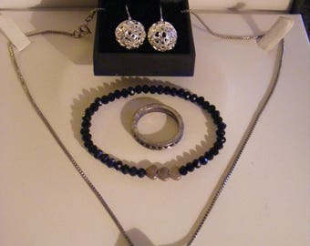 Costume Jewellery Lot With 925 Silver Earrings