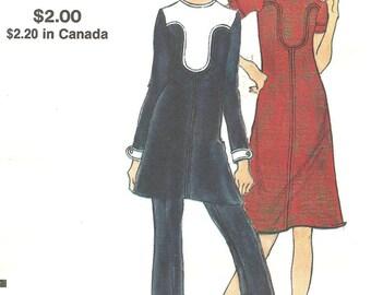 8130 vogue dress tunic pant suit 1960s sz 12  FF