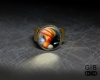 Solar System Ring Planet Jewelry - Solar System Jewelry - Planet Ring Jewelry - Solar System Jewelry Rings Planet Statement Rings Jewelry