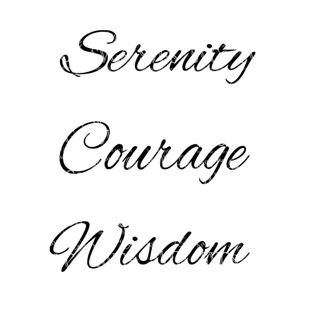SVG - serenidad oración - amigos de Bill W - AA marco - oración ...