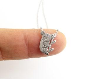 Dainty Necklace, Silver Koala Necklace,Bridesmaid Gift,Birthday Gift,Koala Necklace,9013