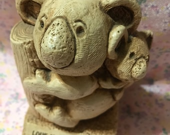 1983 Love is That Little Something Extra Koala Wooden Figurine by Paula Baby Tree 1980s 80s Humorous Collectible