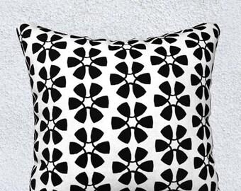 Black and White Pillow, Black Pillow Cover, Black Accent Pillow, Black Throw Pillow, Black Lumbar Pillow, 14x20, 18, Black Pillowcase, Kids