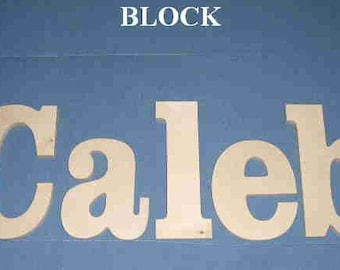 """Wooden Wall Letters - 10"""" Size - Unpainted - Block plus Various other Fonts - Gifts and Decor for Nursery - Home - Playrooms - Dorms"""