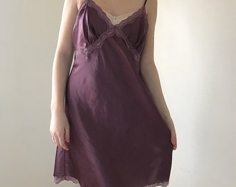 Purple women's lingerie slip