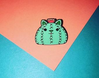 Cat-Cactus Enamel Pin