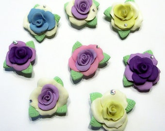 Magnets, Roses, English Rose, Tea Rose, Garden Party, Home Decor, Mothers Day, Flower, Springtime, Colorful, Pastel, Free Shipping, Handmade