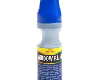Royal Blue Window Paint ~ 1.01 fl oz ~ Decorate Car Windows Promote Specials NEW