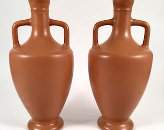 Lovely Art Pottery Vases | Arts and Crafts Movement | Pottery Clay Jugs Vessels | Matte Glaze | Home Decor for Mantelpiece Bookshelf