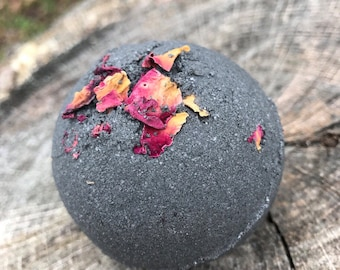 Black Bath Bomb  Essential Oil Bath Bomb Aromatherapy Bath Bomb