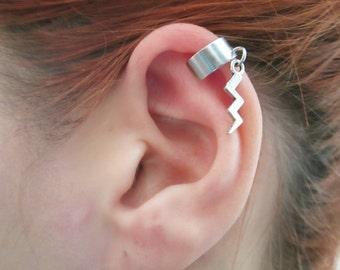 Tiny lightning bolt ear cuff wrap