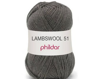"wool LAMBSWOOL taupe color ""Garance"""