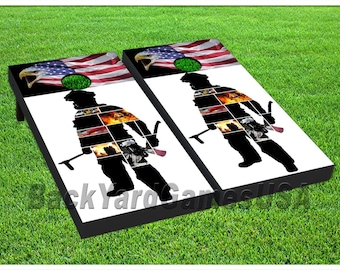 Firefighter Cornhole Etsy