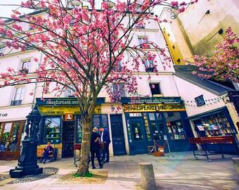 Shakespeare Bookstore,  Paris Travel, Paris Photography, Paris in the Spring, Paris Wall Art, Paris Prints