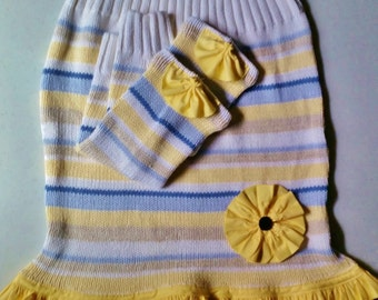 Upcycled Sweater Skirt - Upcycled Skirt, Upcycled Clothing, Striped Skirt, RePurposed Sweater, Ready to Ship
