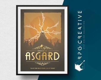 Thor of Asgard : Marvel - Movie Poster, Digital Print,  Geek Decor, Marvel Gift. FREE SHIPPING TO U.K