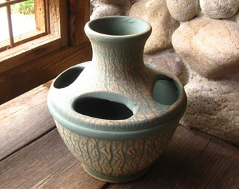 Vintage Pottery Vase, Red Wing Brushware or Robinson Ransbottom Luxor, Craftsman, Arts and Crafts Style
