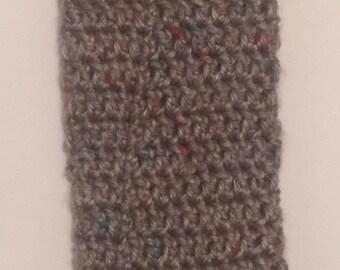Crochet plastic bag holder
