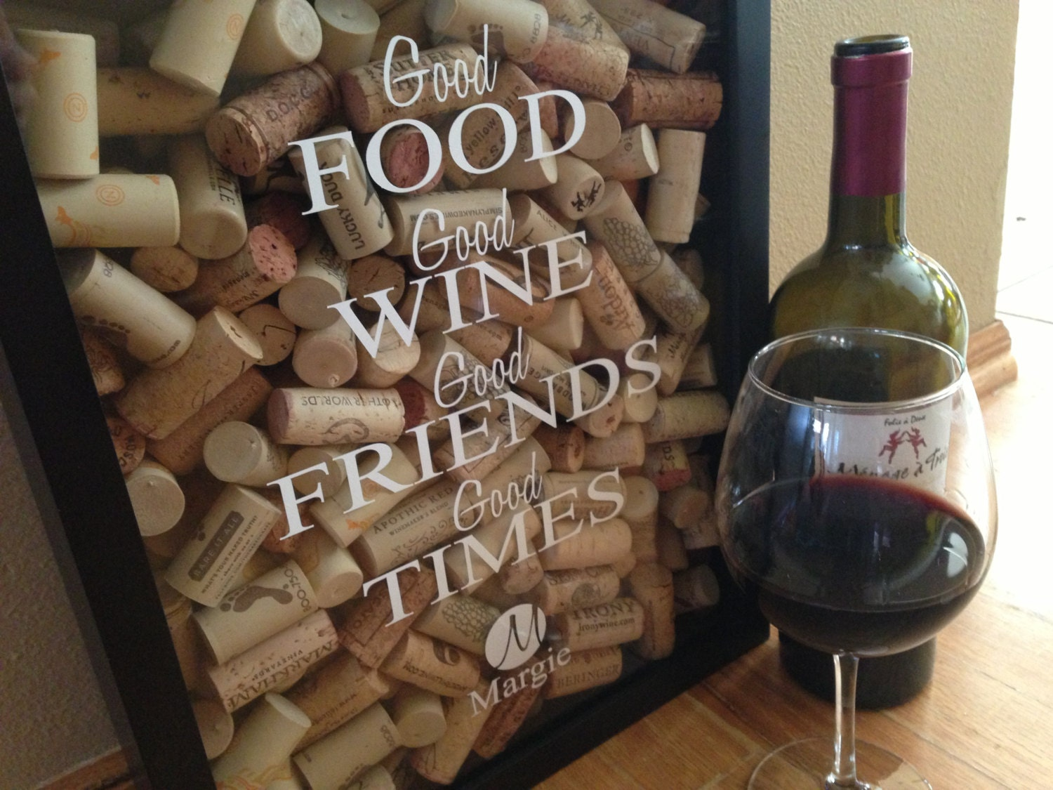 Personalized Wine Cork Holder Gift For Friend Girlfriend