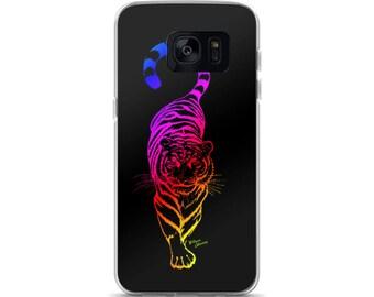 Samsung Galaxy S7, S7 Edge, S8, S8+ iPhone Case with Neon Prowl by Wilson Alvarez