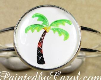 Palm Tree Bracelet, Palm Tree Cuff Bracelet, Palm Tree Jewelry, Palm Tree Expand It, Palm Tree Gifts, Beach Bracelet, Beach Jewelry