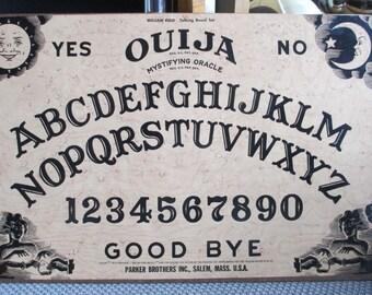 "Ouija Board ""Mystifying Oracle"" Talking Board Set By William Fuld - 60s Vintage Classic Spirit Communication Tool"
