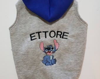 Stitch sweatshirt for pet.In fleece cotton,warm and conforteble.Tailor made for every size of dog
