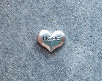 Floating Charm For Glass Memory Lockets- Hope Heart