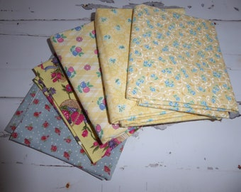 Cotton woven quilting fabric, bundle, quilt quality, cotton, assorted sizes, all new, never washed, end of bolt cuts