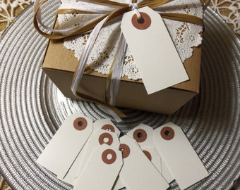 "White Tags, 100 WHITE Tags,  Small, 2 3/4"" x 1 3/8"" - Gift, Parcel, Wish Tags, Blank"