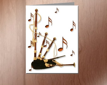 Bagpipe Note Cards