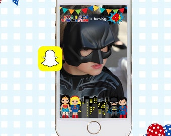 Snapchat GeoFilters, Birthday Snapchat Filters, Party Snapchat Filter, Custom Snapchat GeoFilter, Superhero Birthday Party, Superhero Filter