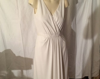 Vintage Jerry Silverman Couture Wrap Maxi Dress
