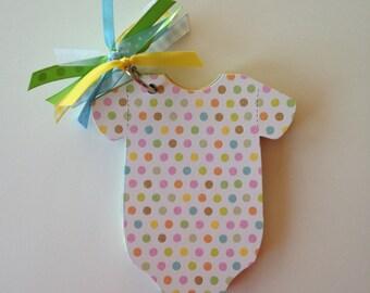 Fun Baby Shower Games, Easy Baby Shower Games - WHITE POLKA DOT Book (Gender Neutral) - Baby Shower Advice Game, Baby Onesie Book, Baby Gift