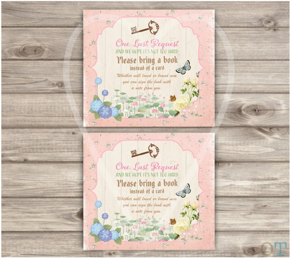 Printable matching card insert fairy garden invitations baby printable matching card insert fairy garden invitations baby shower invitations vintage key bring a book card insert theme garden woodland filmwisefo Image collections