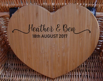 Personalised Chopping Board, Anniversary Gift, Engagement Gift, Wedding Gift, Laser Engraved Gift, Wedding Present, Couples Gift Present