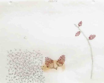Seed Pods with Tiny Arrows / Mixed Media Daily Drawing / Daily Drawing Project / November 5, 2017