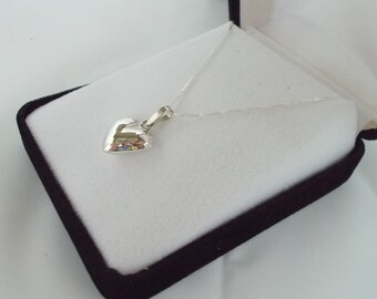 Sterling Silver Heart Pendant with Sterling Silver Chain