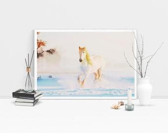 Horse horse print horse art print horse art abstract horse painting Horse landscape print horse decor horse art large canva instant download