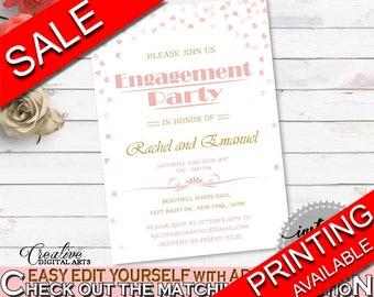 Engagement Party Invitation Bridal Shower Engagement Party Invitation Pink And Gold Bridal Shower Engagement Party Invitation Bridal XZCNH