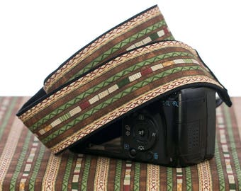 dSLR Western Camera Strap with pocket, Southwestern, Tribal, SLR, 204