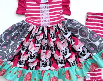 Minnie Mouse Disney dress Momi boutique custom girls dress