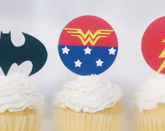 JUSTICE LEAGUE Cupcake Topper