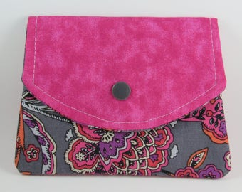 Fabric Womens Wallet, Fabric Wallet, Small Fabric Wallet, Business Card Holder, Credit Card Holder, Holiday Gift For Her Under 20